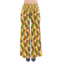 Flower Floral Sunflower Color Rainbow Yellow Purple Red Green Pants by Mariart