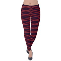 Repeated Tapestry Pattern Abstract Repetition Velvet Leggings