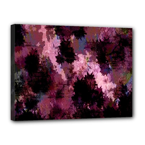 Grunge Purple Abstract Texture Canvas 16  X 12  by Nexatart
