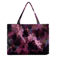 Grunge Purple Abstract Texture Medium Zipper Tote Bag by Nexatart