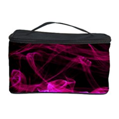 Abstract Pink Smoke On A Black Background Cosmetic Storage Case by Nexatart
