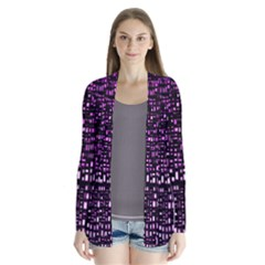 Purple Denim Background Pattern Cardigans