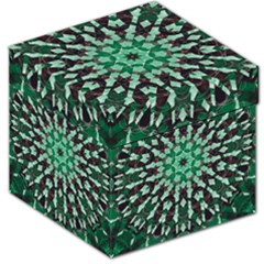 Abstract Green Patterned Wallpaper Background Storage Stool 12   by Nexatart