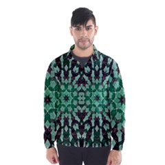 Abstract Green Patterned Wallpaper Background Wind Breaker (men) by Nexatart