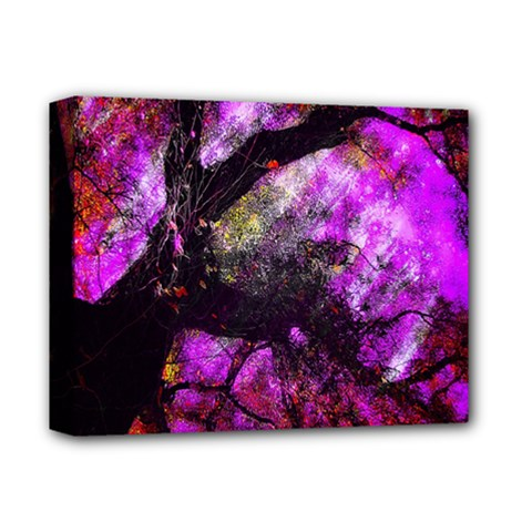 Pink Abstract Tree Deluxe Canvas 14  X 11