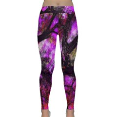Pink Abstract Tree Classic Yoga Leggings