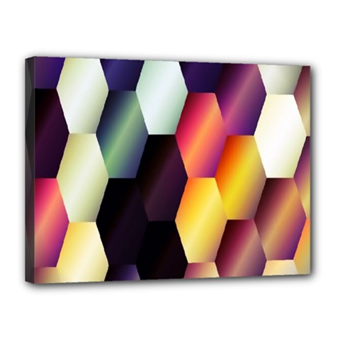 Colorful Hexagon Pattern Canvas 16  X 12