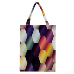 Colorful Hexagon Pattern Classic Tote Bag by Nexatart