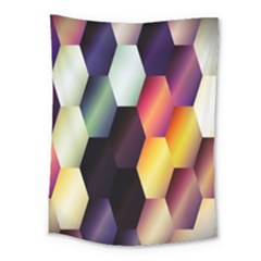 Colorful Hexagon Pattern Medium Tapestry by Nexatart
