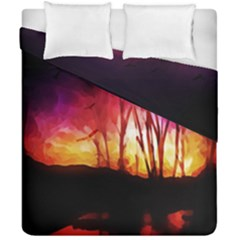 Fall Forest Background Duvet Cover Double Side (california King Size) by Nexatart