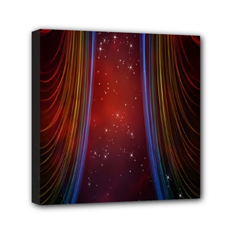 Bright Background With Stars And Air Curtains Mini Canvas 6  X 6  by Nexatart