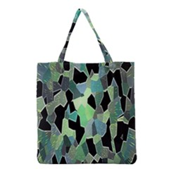 Wallpaper Background With Lighted Pattern Grocery Tote Bag by Nexatart