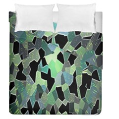 Wallpaper Background With Lighted Pattern Duvet Cover Double Side (queen Size) by Nexatart