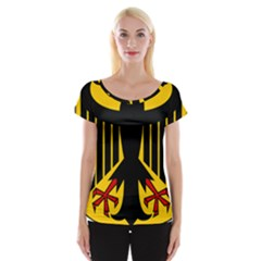 Coat Of Arms Of Germany Women s Cap Sleeve Top by abbeyz71