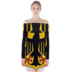 Coat Of Arms Of Germany Long Sleeve Off Shoulder Dress by abbeyz71