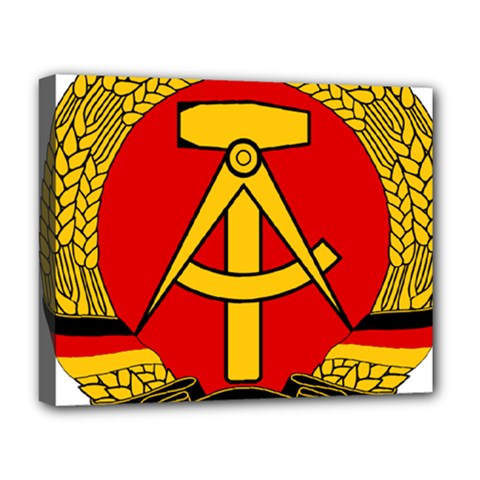 National Emblem Of East Germany  Deluxe Canvas 20  X 16   by abbeyz71