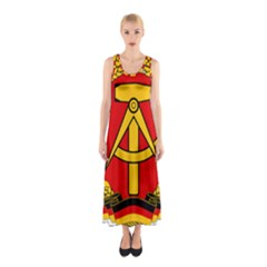 National Emblem Of East Germany  Sleeveless Maxi Dress by abbeyz71