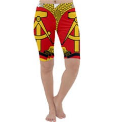 National Emblem Of East Germany  Cropped Leggings  by abbeyz71