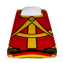 National Emblem Of East Germany  Fitted Sheet (single Size) by abbeyz71
