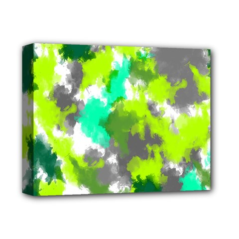 Abstract Watercolor Background Wallpaper Of Watercolor Splashes Green Hues Deluxe Canvas 14  X 11