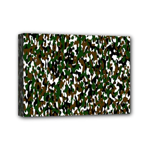 Camouflaged Seamless Pattern Abstract Mini Canvas 7  X 5