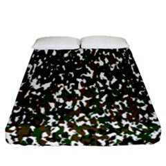 Camouflaged Seamless Pattern Abstract Fitted Sheet (queen Size) by Nexatart