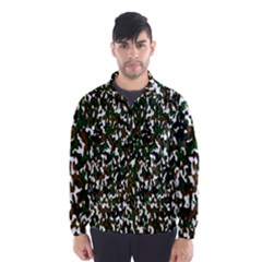 Camouflaged Seamless Pattern Abstract Wind Breaker (men) by Nexatart