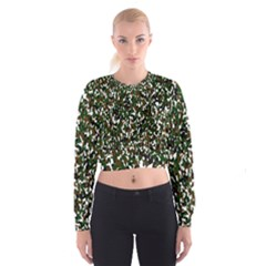 Camouflaged Seamless Pattern Abstract Women s Cropped Sweatshirt by Nexatart