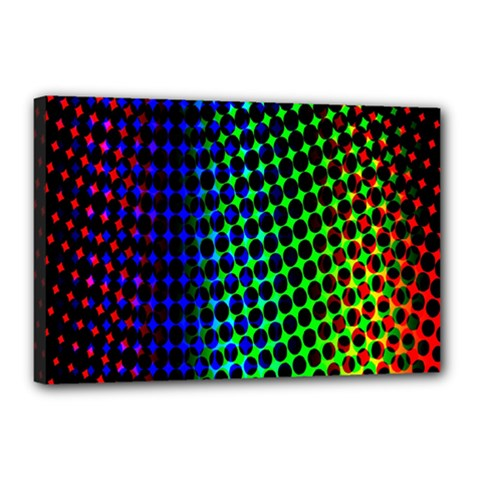Digitally Created Halftone Dots Abstract Background Design Canvas 18  X 12  by Nexatart