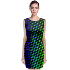 Digitally Created Halftone Dots Abstract Background Design Sleeveless Velvet Midi Dress by Nexatart