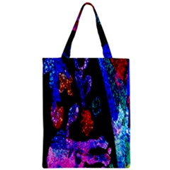 Grunge Abstract In Black Grunge Effect Layered Images Of Texture And Pattern In Pink Black Blue Red Zipper Classic Tote Bag by Nexatart