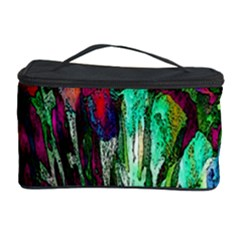 Bright Tropical Background Abstract Background That Has The Shape And Colors Of The Tropics Cosmetic Storage Case by Nexatart