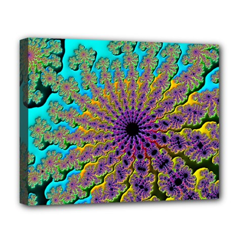 Beautiful Mandala Created With Fractal Forge Deluxe Canvas 20  X 16   by Nexatart