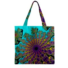 Beautiful Mandala Created With Fractal Forge Zipper Grocery Tote Bag