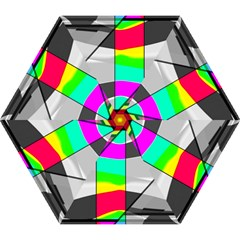 Colors Fadeout Paintwork Abstract Mini Folding Umbrellas by Nexatart