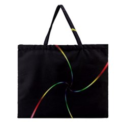 Digital Computer Graphic Zipper Large Tote Bag by Nexatart