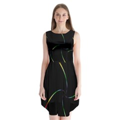 Digital Computer Graphic Sleeveless Chiffon Dress   by Nexatart