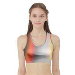 Digitally Created Abstract Colour Blur Background Sports Bra With Border by Nexatart