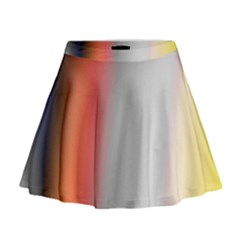 Digitally Created Abstract Colour Blur Background Mini Flare Skirt