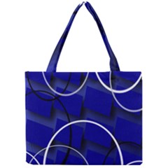 Blue Abstract Pattern Rings Abstract Mini Tote Bag by Nexatart