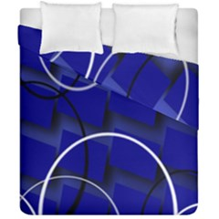 Blue Abstract Pattern Rings Abstract Duvet Cover Double Side (california King Size) by Nexatart