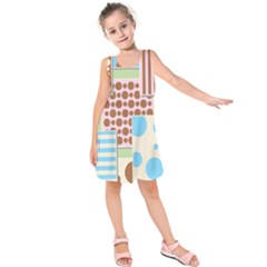 Part Background Image Kids  Sleeveless Dress