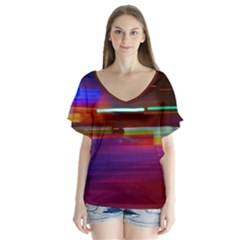 Abstract Background Pictures Flutter Sleeve Top by Nexatart