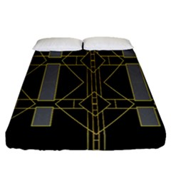 Simple Art Deco Style Art Pattern Fitted Sheet (queen Size)