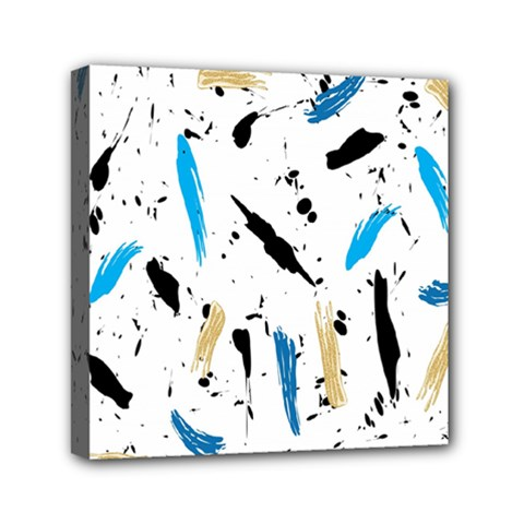 Abstract Image Image Of Multiple Colors Mini Canvas 6  X 6
