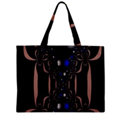 An Interesting Mix Of Blue And Other Colours Balls Zipper Mini Tote Bag by Nexatart