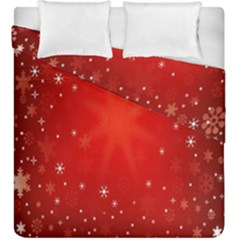 Red Holiday Background Red Abstract With Star Duvet Cover Double Side (king Size)