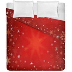 Red Holiday Background Red Abstract With Star Duvet Cover Double Side (california King Size) by Nexatart
