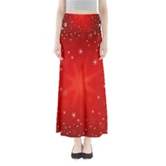 Red Holiday Background Red Abstract With Star Maxi Skirts by Nexatart