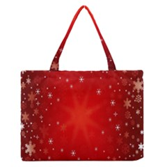 Red Holiday Background Red Abstract With Star Medium Zipper Tote Bag by Nexatart